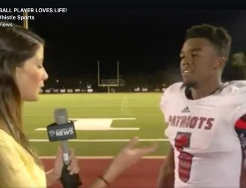 You haven't seen a postgame interview like THIS from a football player before…