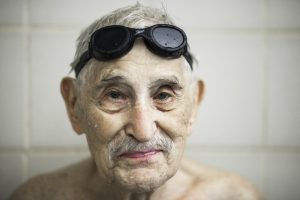 Leo Shliselberg has been swimming regularly for the past 20 years. Photo: Benjamin Hoste for The Wall Street Journal