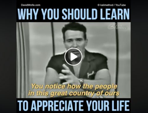 Why You Should Learn To Appreciate Your Life – David Avocado Wolfe